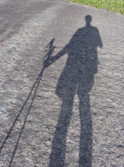 rock with my shadow