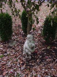 garden, cherub, Fall garden, Autumn garden