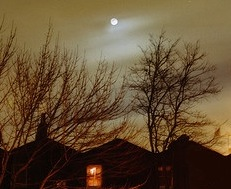 Moon over House